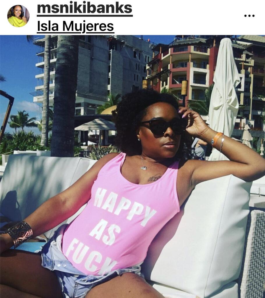 msnikibanks instagram Cancun Mexico